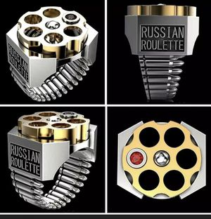 Russian roulette bullet ring size 12 solid stainless steel for Sale in Los Angeles, CA
