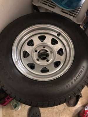 ST205/74R14 radial trailer tire with galvanized rims 5x4.5 for Sale in Clarksburg, MD