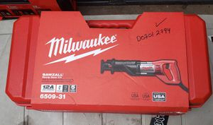 Milwaukee 12 Amp 3/4 in. Stroke SAWZALL Reciprocating Saw with Hard Case for Sale in Long Beach, CA