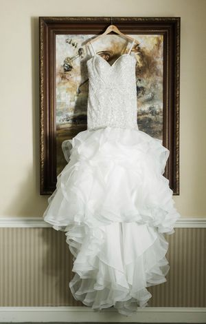 Allure Couture Wedding Dress - Mermaid Ruffled Organza for Sale in Woodbridge, VA