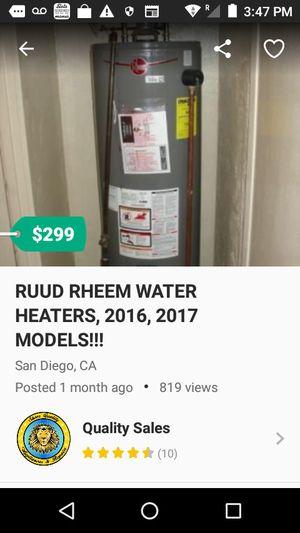 RUUD RHEEM WATER HEATERS 2016-2018 for Sale in San Diego, CA