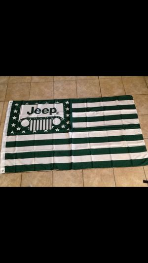 Jeep flag jeep banner jeep tires jeep bumper jeep parts jeep Sign jeep LED light jeep Neon signs jeep hat Raiders Steelers Cowboys 49ers Chargers Ang for Sale in La Habra, CA