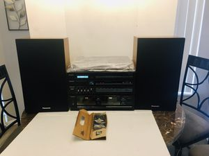 NEW Panasonic Stereo Music System Quartz Synthesizer AM/FM Stereo Radio, Amplifier, Stereo Dual Cassette Deck with High Speed Editing and Cassette Re for Sale in Spring Hill, FL