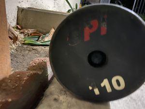 110 lbs fix ez curl bar GPI brand FIRM PRICE for Sale in Fullerton, CA
