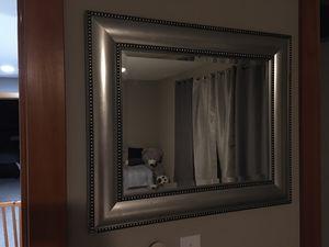 Silver bezzel wall mirror 22x26 for Sale in Seattle, WA