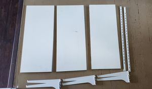 3 white wall shelves + brackets for Sale in Vancouver, WA