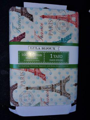 Paris cotton fabric for Sale in Dixon, MO