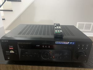 SONY STR-DE475 FM Stereo / AM receiver 80Wx5 Dolby Digital / DTS Amplifier. Remote included. for Sale in Carol Stream, IL
