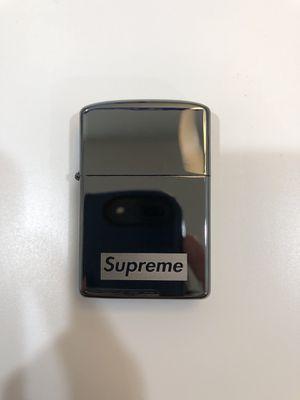 Supreme Ebony Zippo Gunmetal Box Logo Lighter faux for Sale in Villanova, PA