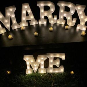 MARRY ME Light Up Marquee Letters, Proposal Letters for Sale in Hanover Park, IL