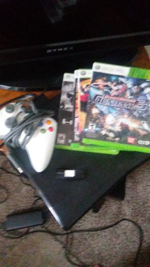 Xbox 360 + game + 3 control for Sale in Portland, OR