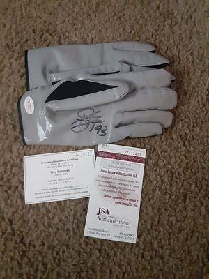 Autographed Troy Palumalo Gloves for Sale in Williamsport, PA