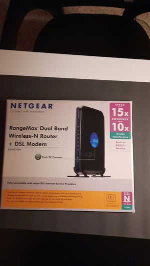 Net gear dual band router and dsl modem for Sale in Fremont, CA