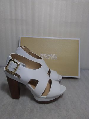 Michael Kors sandals. Size 8.5 women's shoe. White leather. Brand new in box. Retail $170 for Sale in Portsmouth, VA