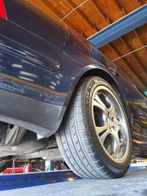 4 wheels and tires 17 inch 225 45 se habla español tambien for Sale in Piedmont, CA