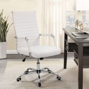 BRAND NEW Walnew Mid-Back Ribbed Office Chair with PU Leather,White for Sale in Marietta, GA