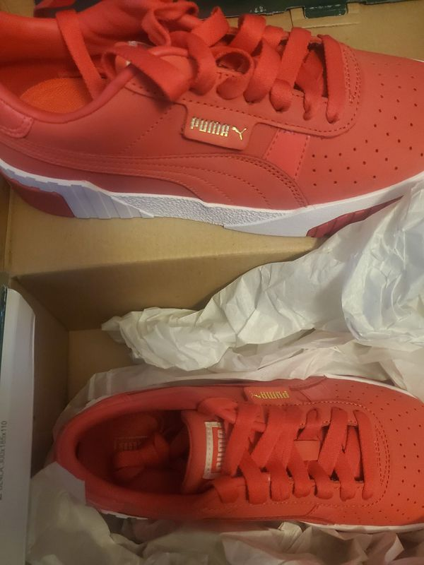 Red Women's Puma Cali Size 8