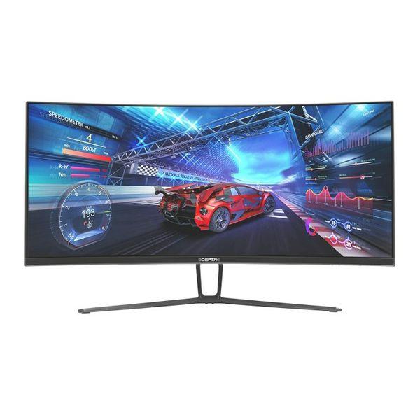 Sceptre 35 Inch Curved UltraWide 21: 9 LED Creative Monitor QHD 3440x1440 Frameless AMD Freesync HDMI DisplayPort Up to 100Hz, Machine Black 2020 (C35
