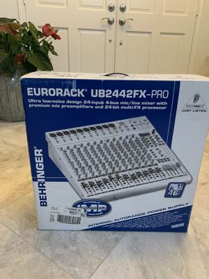 Behringer Eurorack UB2442FX-PRO, 24 input live audio mixer for Sale in Laguna Niguel, CA