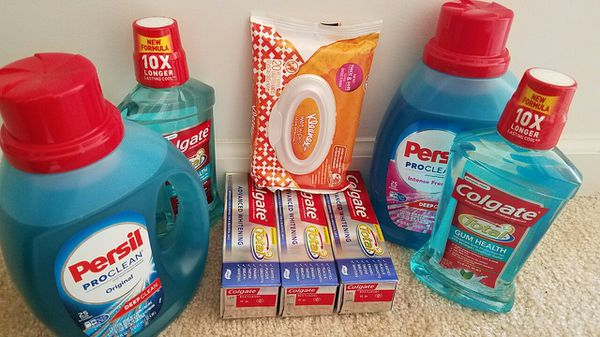 Household bundle persil kleenex wipes colgate - Read description