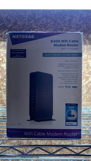 Wifi Cable Modem Router for Sale in Fort Worth, TX