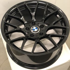 """Brand new 18"""" staggered gloss black BMW style concave wheels 5x120 all 4 READ DESCRIPTION! PRICE FIRM! for Sale in Whittier, CA"""