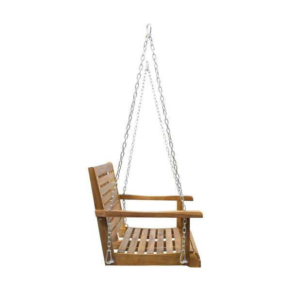 Outdoor Aacia Wood Porch Swing Garden Yard Patio