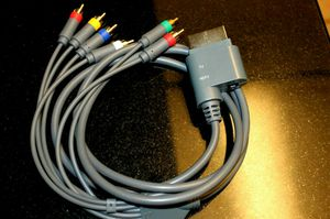 XBOX 360 HD TV Component Composite Audio Video AV Cable Cord for Sale in Fullerton, CA