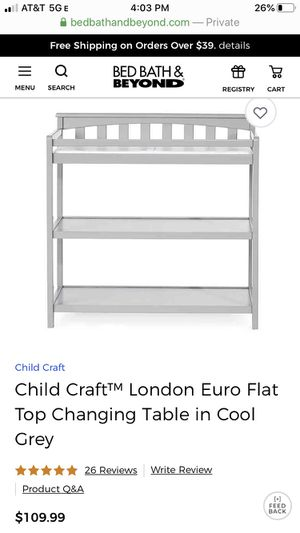 Changing table, Child Craft Euro Top (brown color) for Sale in San Jose, CA