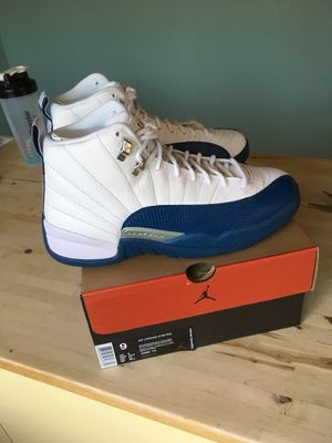 Nike Air Jordan 12 Size 9 French Blue Black Cement Yeezy for Sale in Seattle, WA
