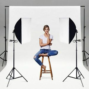 Photography Photo Equipment Light Kit Set of 2 Lighting Softbox Stand for Sale in KIMBERLIN HGT, TN