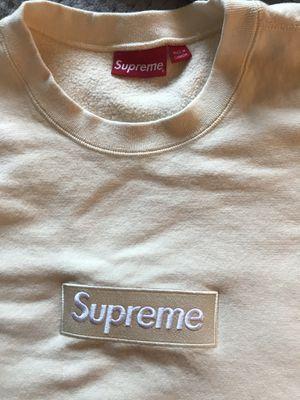 100% Authentic. Supreme Crewneck Natural. Size XL for Sale in Arlington, VA
