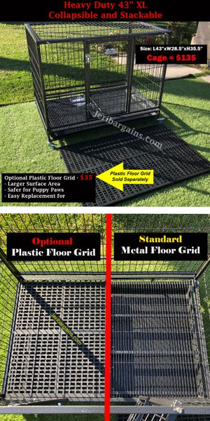 """New Heavy Duty 43"""" XL Rolling Dog Cage Kennel Crate Collapsible Stackable for Sale in Norco, CA"""