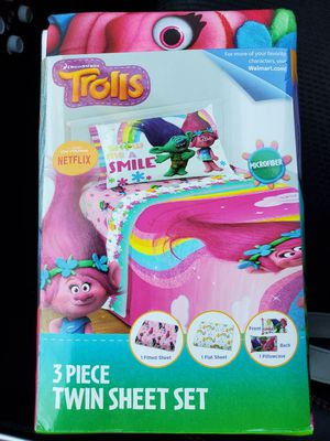 Trolls sheet set for Sale in Ontario, CA