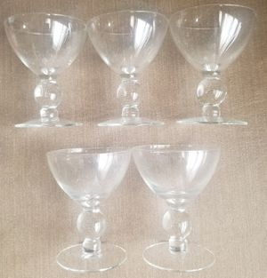 Set of 5 beautiful sherbet glasses for Sale in Three Rivers, MI