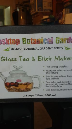 Glass Tea & Elixir Maker Desktop Botanical garden Series for Sale in Huntington Beach, CA