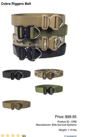 Best price! Elite Survival Systems Elite Cobra Rigger's Belt, black, belt width: 1.75 inch for Sale in Diamond Bar, CA