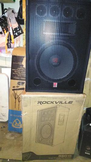 "2 ROCKVILLE 15"" three-way pro audio passive loudspeakers for Sale in Anaheim, CA"