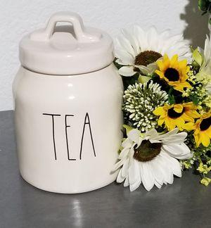 Rae Dunn TEA canister / farmhouse decor kitchen home storage for Sale in Lynwood, CA