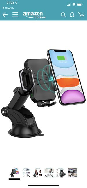 CHOETECH Wireless Car Charger, 10W/7.5W Qi Wireless Fast Charging Car Mount, USB-C Dashboard Phone Holder Compatible with iPhone 11/11 Pro/11 Pro Max for Sale in Irving, TX