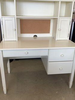 Childs White Pottery Barn Desk And Hutch for Sale in Glendora,  CA