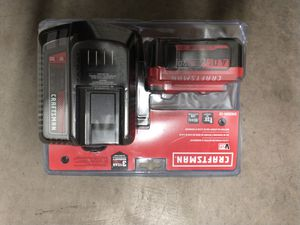 Craftsman v20 4.0 ah Battery and Charger for Sale in Gilbert, AZ