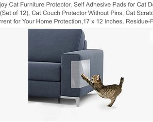 Cat Furniture Protector, Self Adhesive Pads for Cat Dog Claw(Only 9 ) Cat Couch Protector Without Pins, Cat Scratch Deterrent for Your Home Protection for Sale in Las Vegas,  NV