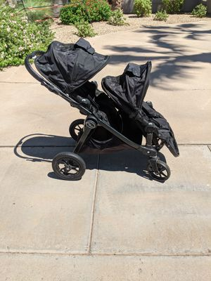 Baby Jogger City Select Double Stroller with Padded Travel Bag for Sale in Scottsdale, AZ