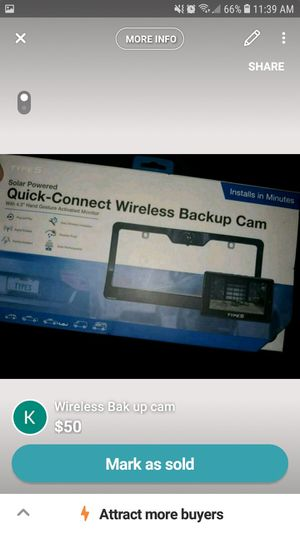 Connect wireless Bak up cam for Sale in Rocky Mount, VA