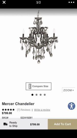 Z gallerie mercer crystal chandelier for Sale in Hialeah, FL