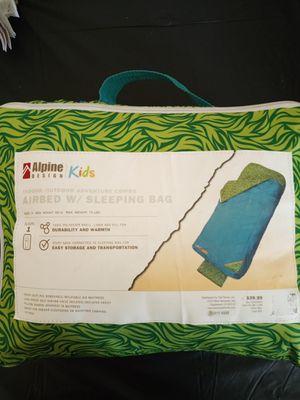 ALPINE Airbed w/sleeping bag kids. for Sale in Modesto, CA