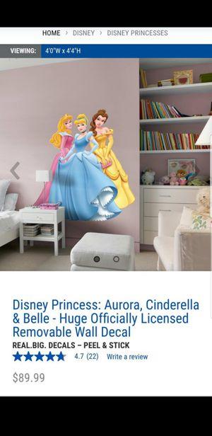 Fathead Disney Princess: Aurora, Cinderella & Belle for Sale in Maricopa, AZ