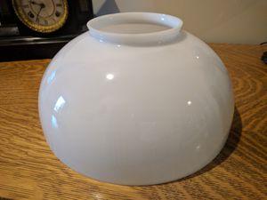 White milk glass lamp shade for Sale in Leesburg, VA