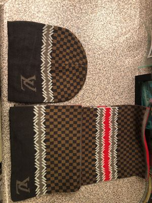 Louis Vuitton scarf and hat!! for Sale in Los Angeles, CA
